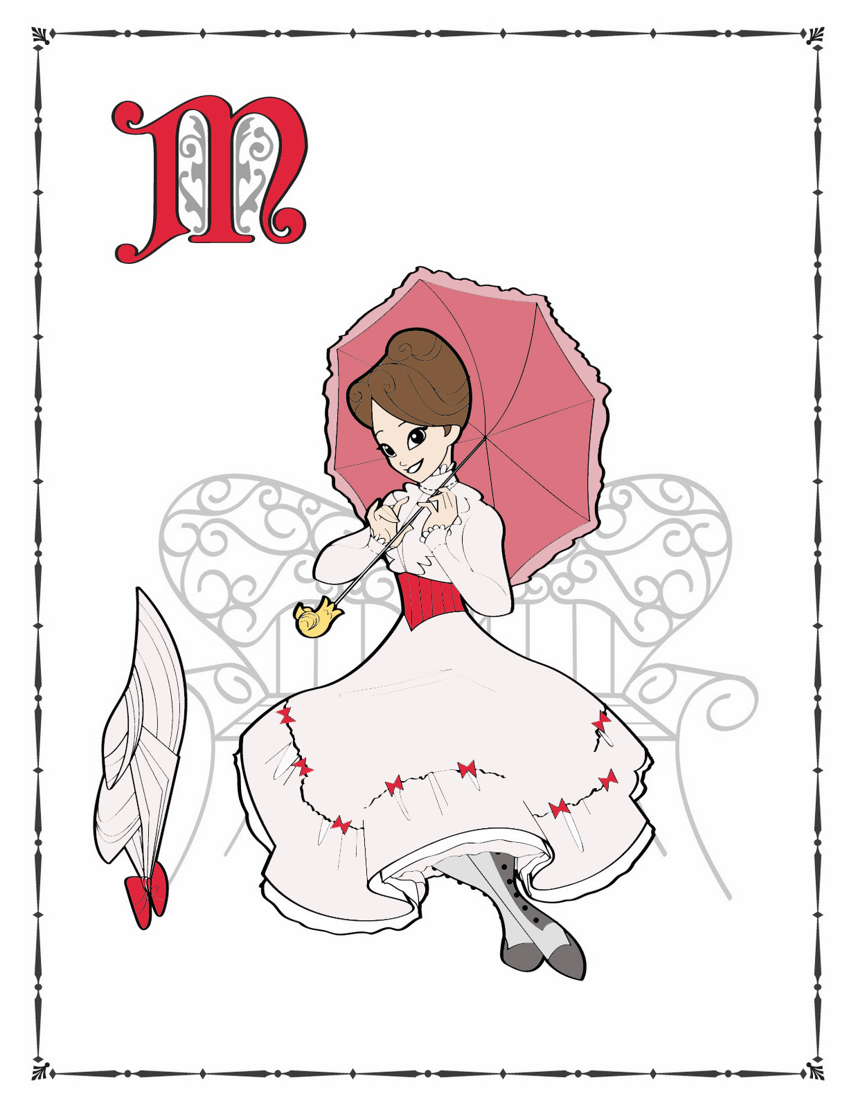 Where Can I Find Mary Poppins Characters Coloring Pages?
