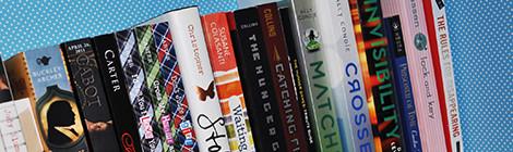diy: lined bookshelves
