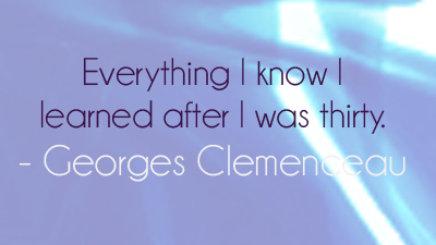 georges on turning thirty