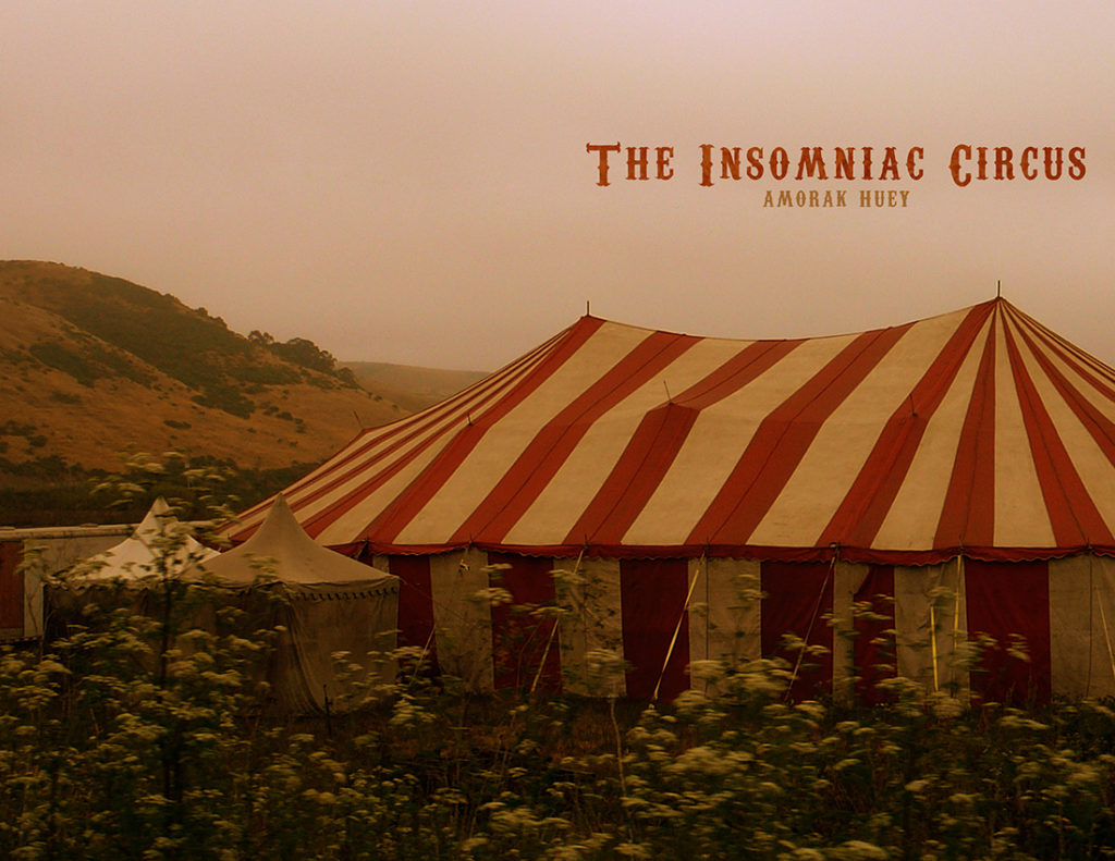 From Hyacinth Girl Press: The Insomniac Circus by Amorak Huey, cover design by Sarah Reck